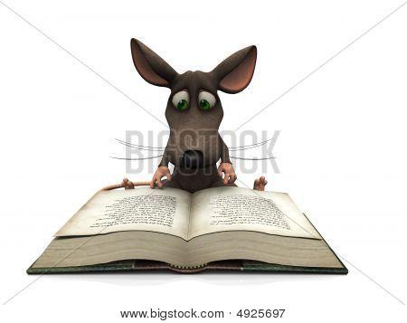 Lectura de dibujos animados ratón