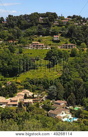 Green Hills In Saint-paul-de-vence , Provence, South France.