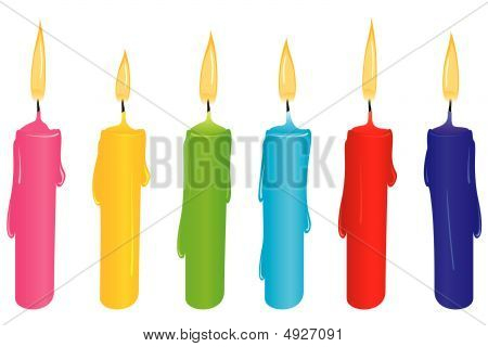 Colorful Candle Set