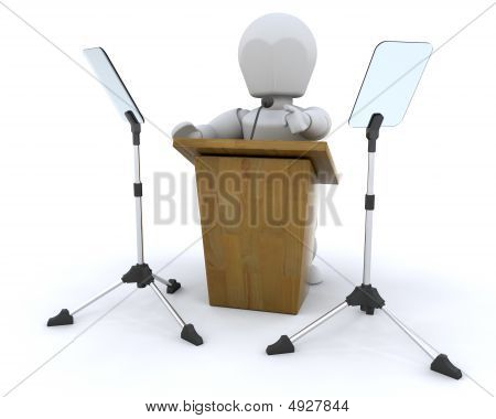 Lecturn And Teleprompter