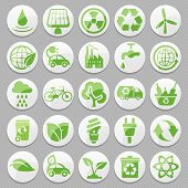 vector green eco icons for various uses poster