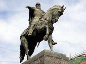 Monument of Yuri Dolgoruky - Moscow tverskaya street poster
