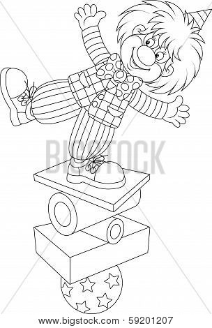 Clown equilibrist