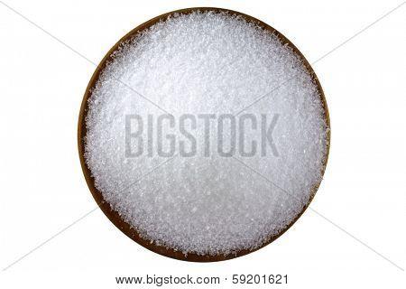 Closeup photo of fine Magnesium sulfate (Epsom salts)