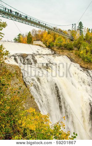 Montmorency Falls Park near Quebec City, Canada. The waterfall is 83 m tall, a full 30 m higher than Niagara Falls.