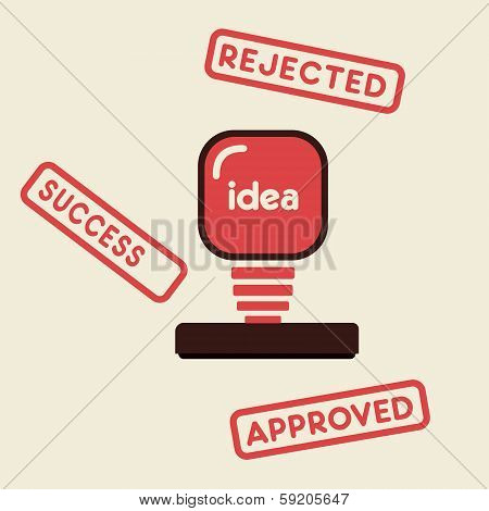 approved ,rejected and success stamp