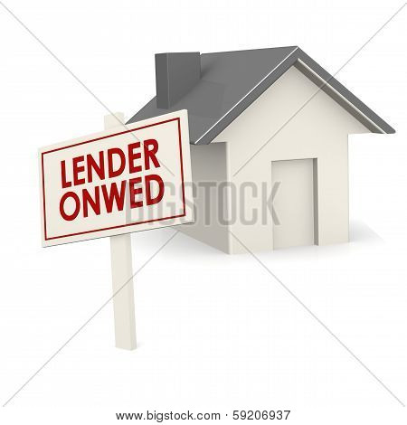 Lender Owned Banner With House