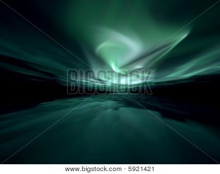 Aurora Borealis - Green Fractal