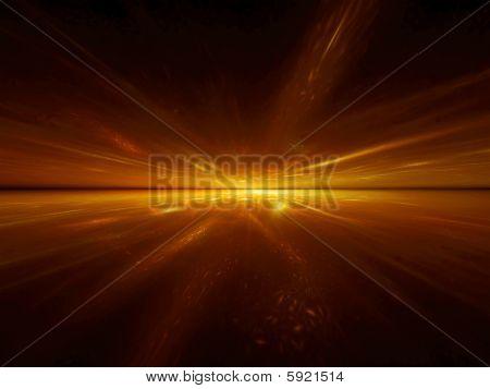 Golden Acceleration - 3D Fractal Illustration