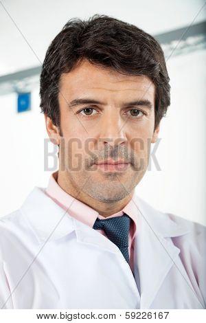 Portrait of confident male technician in laboratory