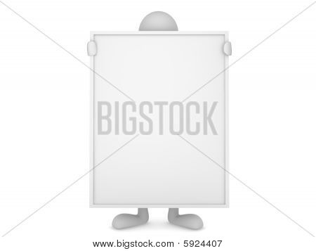 Man holding huge board