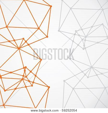 abstract connection node background vector