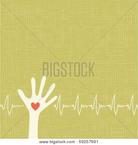 warm colorful up hands, love vector illustration