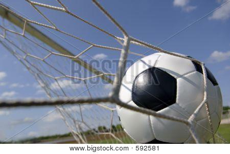 Calcio Soccer Ball In Goal