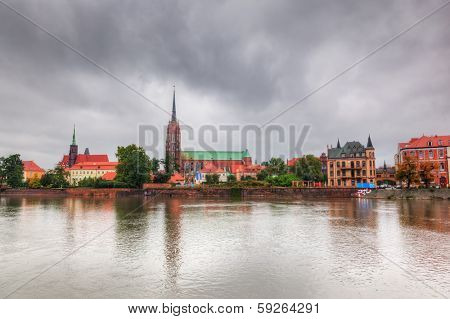Wroclaw, Poland. Ostrow Tumski and Oder River. Also known as Cathedral Island
