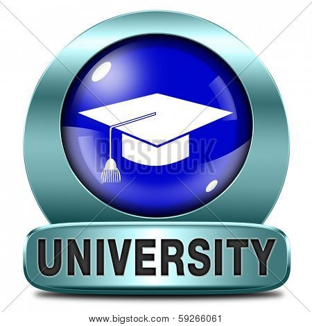 university learn get educated and gather knowledge and wisdom choose university choice university application admission entry requirements  blue icon