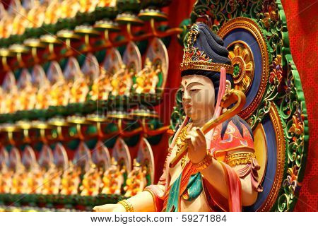 Chinese traditional statue, Kuan Yin poster