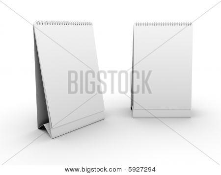 Empty table calendar template