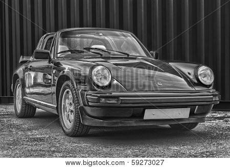 Porsche 911 Targa Black And White
