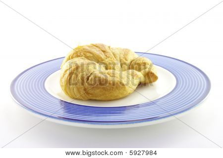 Croissant On A Plate