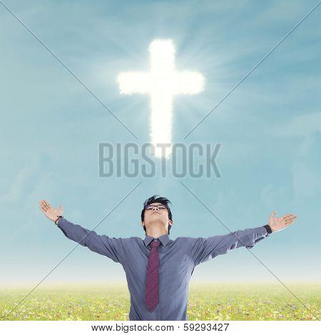 Religious Man  Below The Cross