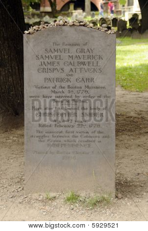 Boston Massacre Tombstone