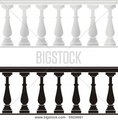 Architectural element - a balustrade