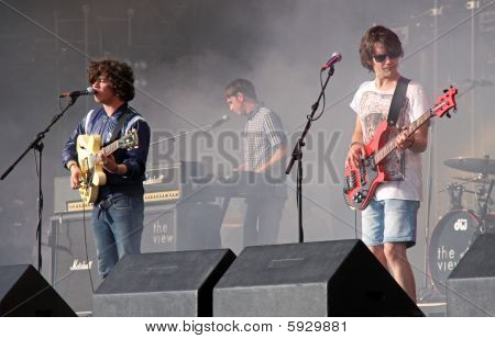 The View, indie / rock band playing on stage at Hop Farm Festival