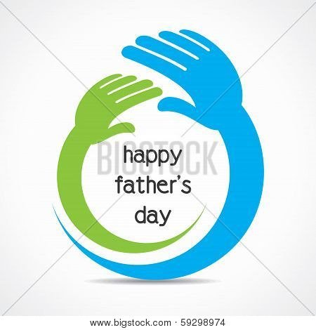 happy fathers day background concept stock vector