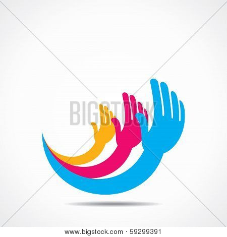 creative hand icon concept design