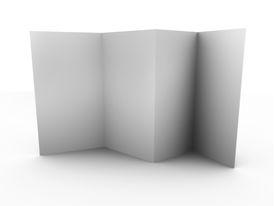 Empty folded leaflet