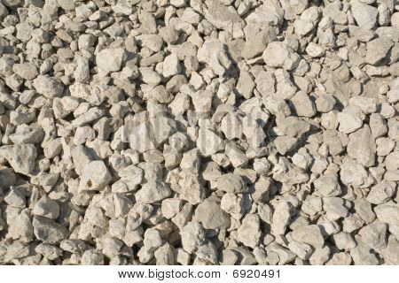 Pile of white stones (horizontal background)