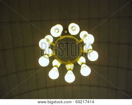 Close Up Of Lustre On Ceiling
