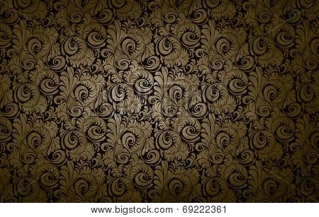 Golden Victorian Vintage Background