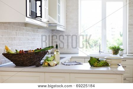 Classical White Kitchen At Home