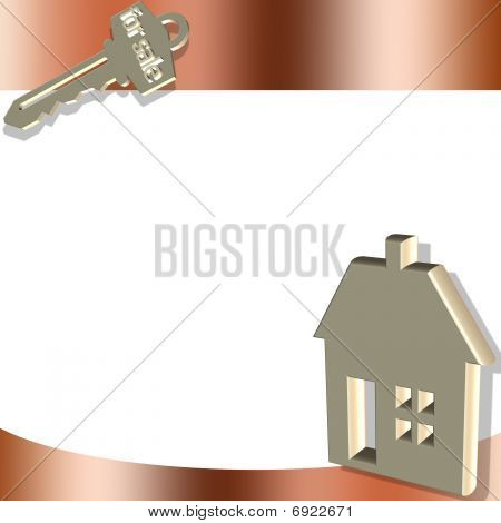 House And Key Gold