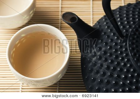 Tetsubin And Tea Cups