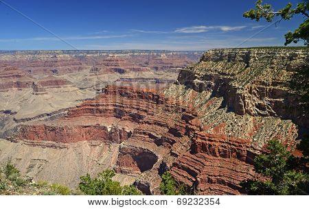 Red rock layers at South rim of Grand Canyon, Arizona