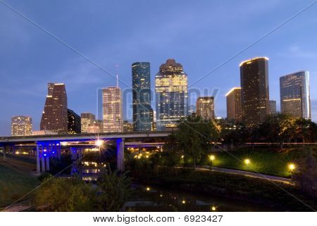 Houston Night Skyline