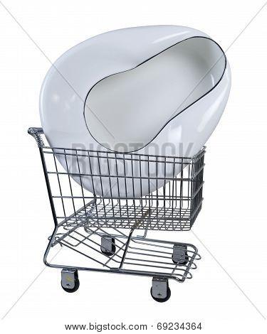 Bed Pan In Shopping Cart