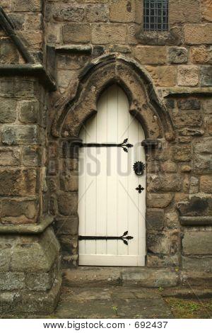 White church door