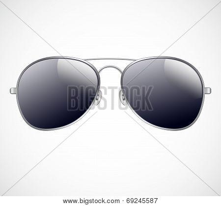Aviator sunglasses vector illustration background