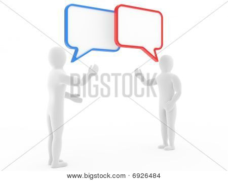Two Persons Talk