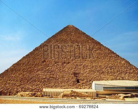Pyramids In Desert Of Egypt In Giza