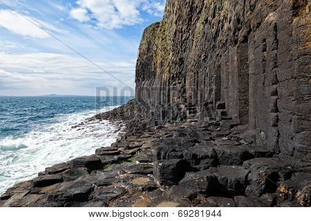 Basalt Columns On Staffa, Scotland