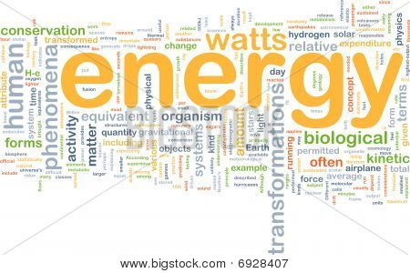 Energy Physics Background Concept