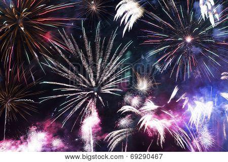 Colorful Fireworks Celebration