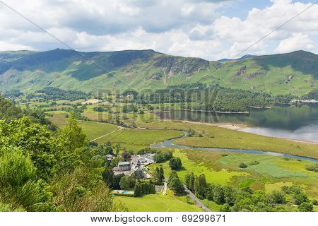 High Spy and Maiden Moor mountains and Derwent Water Lake District Cumbria near Keswick