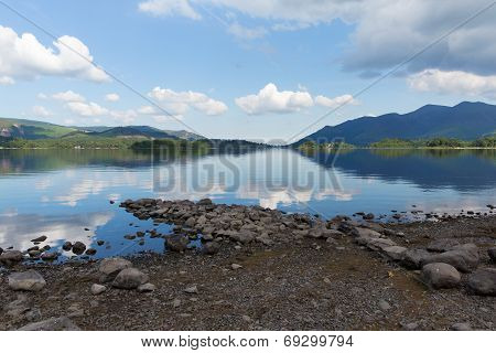English Lake District Derwent Water Cumbria England uk near Keswick