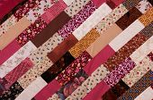 red and brown quilt patchwork texture background poster